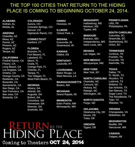 Return to the Hiding Place 2014