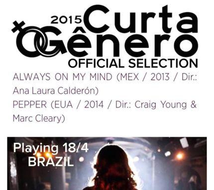 Curta Gênero Brazil 2015